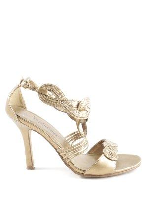 Top Studio Strapped High-Heeled Sandals gold-colored elegant