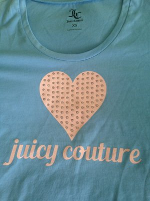 Top T-Shirt Juicy Couture hellblau rosa Gr XS