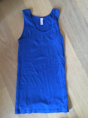 Top Tanktop Basic stretchig blau 100% Baumwolle Gr. M NEU