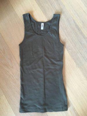 Top Tanktop Basic stretchig khaki 100% Baumwolle Gr. L NEU