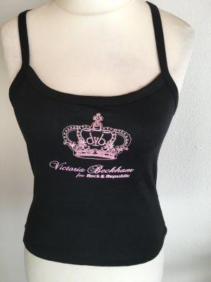 Top Tanktop Cropped schwarz Victoria Beckham rosa süß