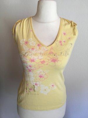 Top Tanktop sommerlich gelb rosa Esprit Gr. S