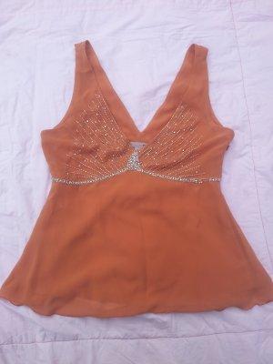 H&M Débardeur à bretelles orange-orange foncé