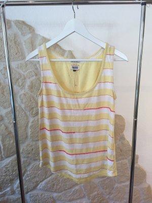 Top Tommy Hilfiger Denim S gelb pink weiß