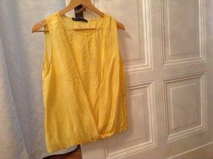Zara Top jaune primevère viscose