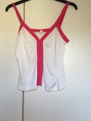 Top Trägertop *Gr. 38* Weiß Pink
