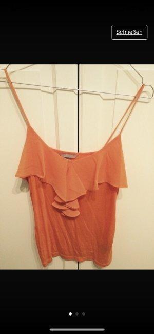 H&M Top de tirantes albaricoque-naranja claro