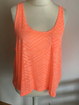 Top Trägertop Tanktop oversized locker orange lachs Azteken TOP