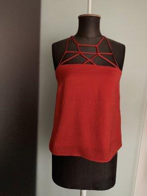 H&M Top corto rosso scuro