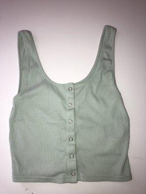 H&M Cropped shirt lichtblauw