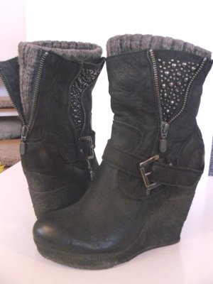 Top verarbeitete Leder Ankle Boots - Booties -  Wedge Boots  Sockdetails by VIVIAN