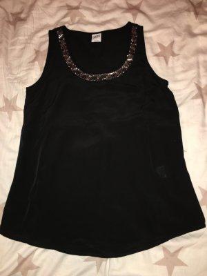 Top Vero Moda schwarz mit Steinen in Größe M