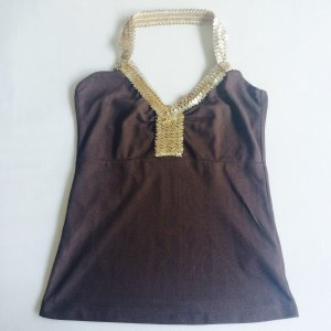Vila Halter Top gold orange-dark brown