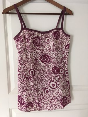 1.2.3 Paris Bustier Top natural white-blackberry-red