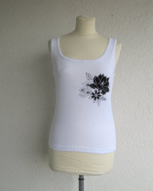 3 Suisses Basic Top white-black cotton