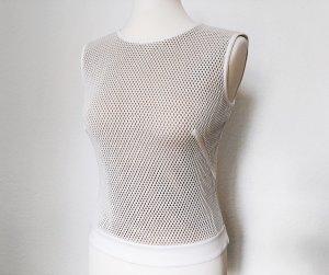 Akris punto Débardeur blanc tissu mixte