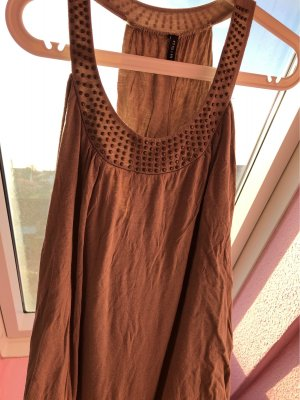 Amisu Long Top camel-light brown