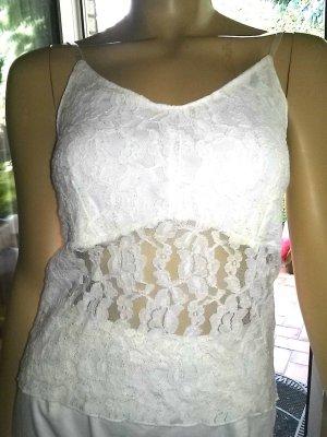Haut type corsage blanc polyamide