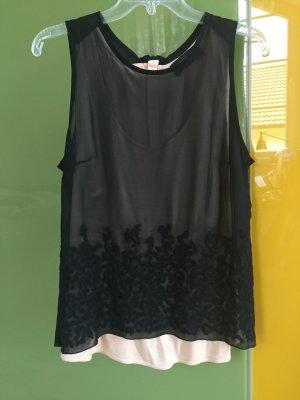 Diesel Blouse topje nude-zwart
