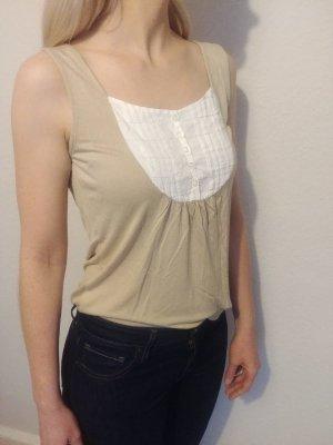 H&M Haut basique blanc-beige