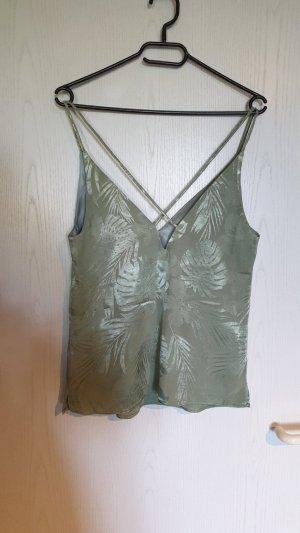 H&M Maglia con scollo a V verde-grigio