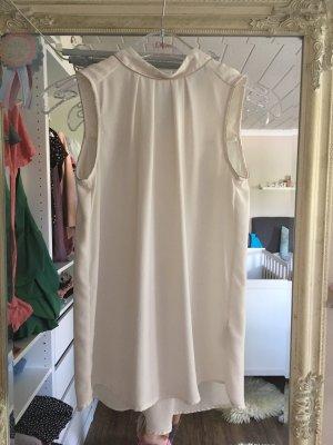 H&M Top estilo halter blanco-color plata Poliéster