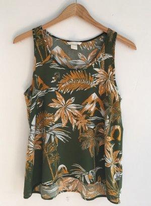 top von H&M mit palmenprint 34 XS