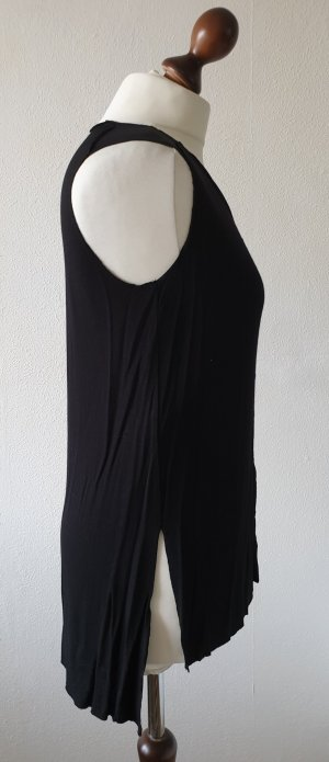 Mango Basics Long Top black viscose