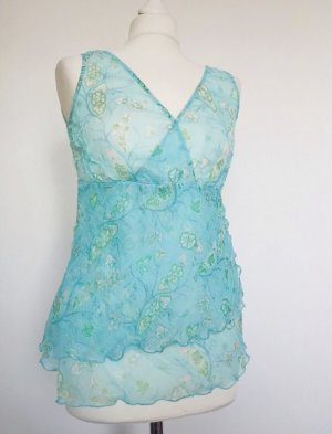 s.Oliver Flounce Top light blue