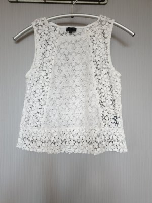 Seven Sisters Crochet Top white cotton