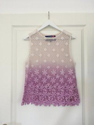 Superdry Crochet Top multicolored cotton
