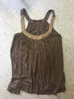 Velvet Strappy Top taupe
