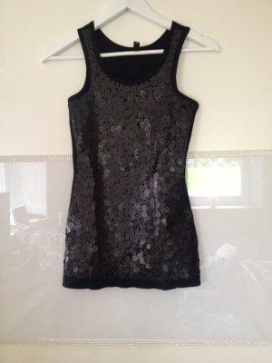 Top von Vero Moda in schwarz mit Pailletten Größe XS