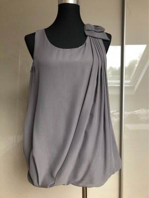 Vila A Line Top light grey-grey