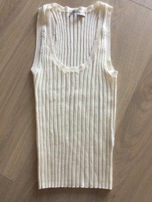 Zara Knit Basic topje wit Gemengd weefsel