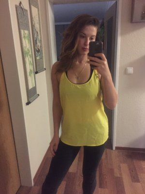 Zara Top largo amarillo