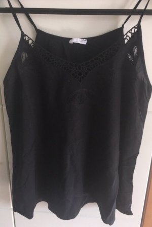 Zara Spaghetti Strap Top black
