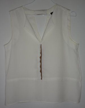 Top von Zara Größe S weiß und Leder