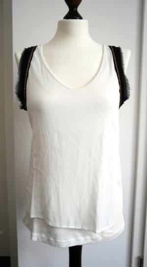 Top von Zara in weiß mit schönen Details Gr. M