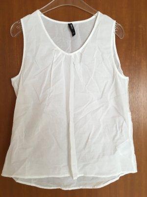 Top weiß locker Obereil Basic luftig oversized Bluse