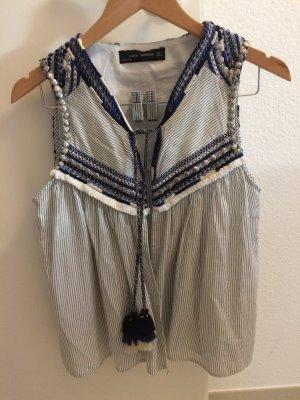 Zara Gilet multicolore coton