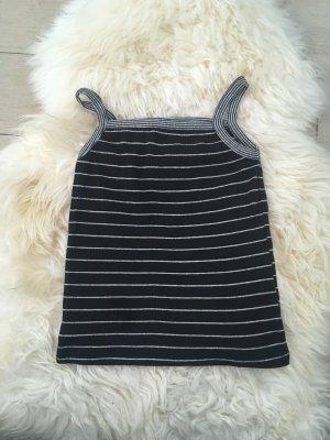 Zara Spaghetti Strap Top white-black