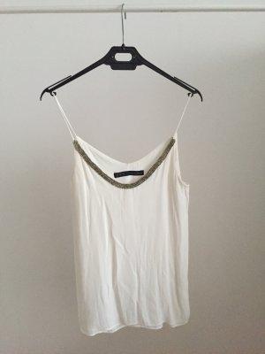 Zara Camisa con cuello V multicolor
