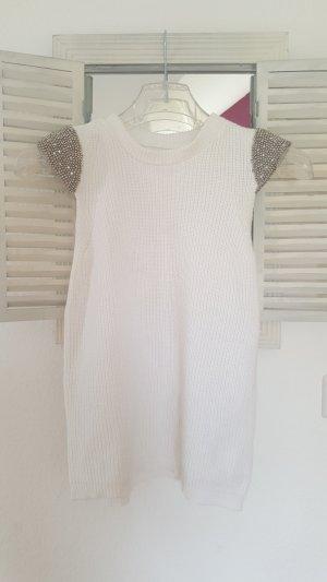 Zara Top lavorato a maglia bianco