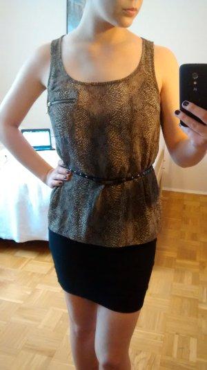 Top Zara Gr. M 38 schlange Tanktop reptil muster bluse oberteil blogger