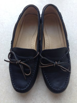 Frye Moccasins black leather