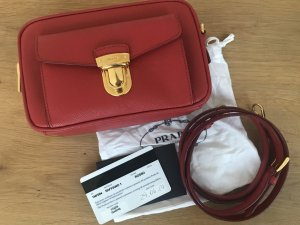 Prada Crossbody bag brick red-dark red leather