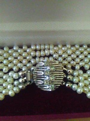 Vintage Collier grigio chiaro-bianco Argento