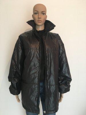 Topcoat M oversize onesize schwarz Black matt glänzend leicht Reißverschluss Winter Mantel
