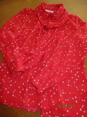 Blusa con lazo rojo Poliéster